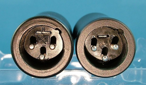 Real SM57 (left) and fake SM57 (right)