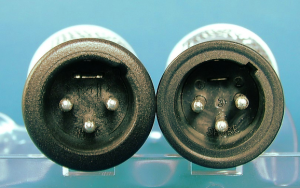 Real SM58 (left) and fake SM58 (right)